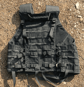TACTICAL VEST BLACK - TACTICAL NYLON