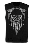 ODIN, VIKING SLEEVELESS T-SHIRT - PAGAN T-SHIRTS NAAV FASHION