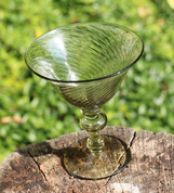 GLASS FOR CHAMPAGNE, GREEN GLASS - HISTORICAL GLASS