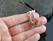 JASNA, AMBER, EARRINGS, YELLOW, STERLING SILVER - AMBER JEWELRY