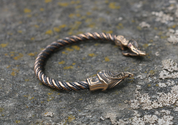 MIDGARDSORMR, VIKING BRACELET, BRONZE - VIKING, SLAVIC, CELTIC BRACELETS - BRONZE AND BRASS