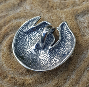 BADGER, PENDANT, STERLING SILVER - MYSTICA SILVER COLLECTION - PENDANTS