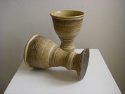 MEDIEVAL CERAMIC GOBLET FOR WINE - HISTORICAL CERAMICS
