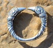 VIKING RAVEN HEAD RING, SILVER 925 - RINGS - HISTORICAL JEWELRY
