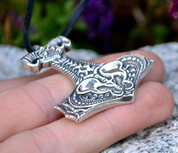 NECRO-ORGANIC THOR'S HAMMER BY WULFLUND, SILVER 925, 14 G - VIKING PENDANTS