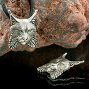LYNX, PENDANT, TIN - ANIMAL PENDANTS