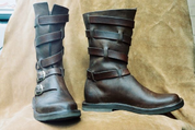 DUKE, LEATHER HALF BOOTS - GOTHIC BOOTS