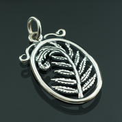 FERN, SILVER PENDANT - MYSTICA SILVER COLLECTION - PENDANTS