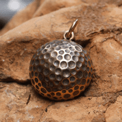 GOLF BALL, BRONZE PENDANT - PENDANTS, NECKLACES
