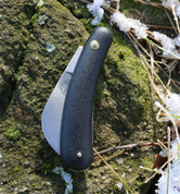 CURVED BLADE FOLDING KNIFE, MIKOV - SWISS ARMY KNIVES