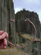 CELTIC TORC, BULL'S HEADS, BRONZE - FORGED JEWELRY, TORCS, BRACELETS