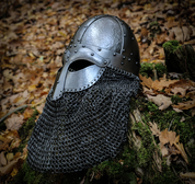 HJALMAR, VIKING HELMET 2MM, RIVETED AVENTAIL - VIKING AND NORMAN HELMETS