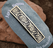 VOLUTES, BRASS HAIR CLIP, MADE IN IRELAND - CELTIC BRASS JEWELS, IMPORT FROM IRELAND