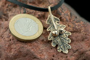 OAK LEAF, BRONZE CHARM - PENDANTS, NECKLACES