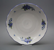 BOWL FOR COMPOTE, ROCOCO, FORGET-ME-NOT - PORCELAIN PLATES