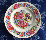 TRADITIONAL HANDPAINTED PLATE, CHODSKO - TRADITIONAL CZECH CERAMICS
