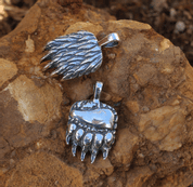 BEAR PAW PENDANT, SILVER - PENDANTS - HISTORICAL JEWELRY