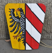PAVISE, WOODEN SHIELD - CUSTOM PAINTED - LIVING HISTORY SHIELDS