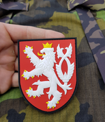 CZECH LION, RUBBER PATCH, COLOURED - MILITARY PATCHES