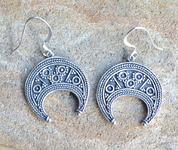 LUNITSA - EARRINGS, GREAT MORAVIAN EMPIRE, SILVER 925 - FILIGREE AND GRANULATED REPLICA JEWELS