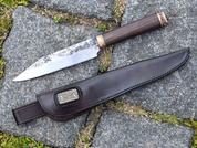 HALDOR, FORGED KNIFE WITH SHEATH - KNIVES