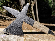CRUSADER THROWING AXE - SHARP BLADES - THROWING KNIVES