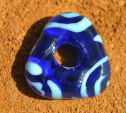 CELTIC HANDMADE GLASS BEAD, MUSEUM REPLICA V5C - HISTORICAL GLASS BEADS, REPLICA
