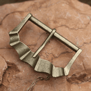 MEDIEVAL BELT BUCKLE ZINC ANT. BRASS 40 MM - BELT ACCESSORIES