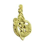 MAC TÍRE CELTIC WOLF, PENDANT, 14K GOLD - GOLDEN JEWELLERY