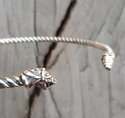 FLÓKI, VIKING SILVER TORQUES BY WULFLUND - TORCS, NECKLACES - SILVER