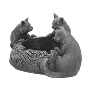 FELINE TRIO ASHTRAY - ANIMAL FIGURES