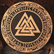 VALKNUT  WALL DECORATION - WOODEN STATUES, PLAQUES, BOXES