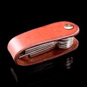 MORLEY, LEATHER KEYCHAIN COGNAC - WALLETS