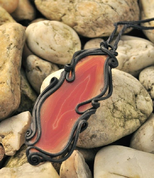 AGATE PENDANT RED - FANTASY JEWELS
