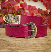 VINUM, GOKSTAD BELT, RED LEATHER - LEATHER PRODUCTS