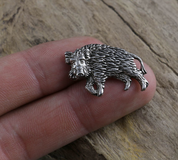 WILD BOAR, PENDANT, TIN - ANIMAL PENDANTS