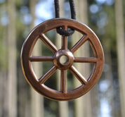TARANIS WHEEL, BRONZE REPLICA, OPPIDUM STRADONICE, BOHEMIA - PENDANTS, NECKLACES