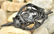 OBSIDIAN, HAIR BROOCH - FANTASY JEWELS