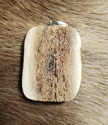 WOLF, CARVED ANTLER PENDANT - ANIMAL PENDANTS