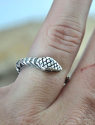 SERPENT, STERLING SILVER RING - RINGS - HISTORICAL JEWELRY