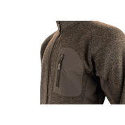 WEARDALE KNITTED JACKET BROWN - SWEATSHIRTS AND HOODIES