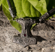 SCANIA THOR'S HAMMER, VIKING KNIT, VIKING NECKLACE, SILVER 925 - PENDANTS - HISTORICAL JEWELRY