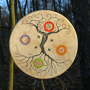 TREE OF LIFE, SHAMANIC FRAME DRUM 40 CM - DRUMS, FLUTES