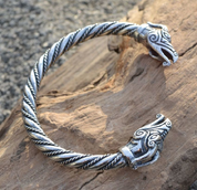 DRAIG - CELTIC DRAGON, STERLING SILVER BRACELET, 39 G. - PENDANTS - HISTORICAL JEWELRY