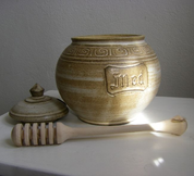 HONEY POT, POTTERY - HISTORICAL CERAMICS