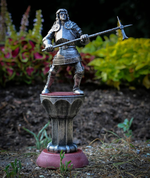 KNIGHT WITH A HAMMER, 15TH CENTURY, TIN FIGURE - PEWTER FIGURES
