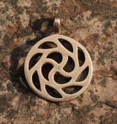 SUN SYMBOL, BRONZE PENDANT - PENDANTS, NECKLACES