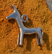 CELTIC HORSE, PENDANT, REPLICA, BRONZE - BRONZE HISTORICAL JEWELS