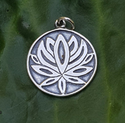 SACRED LOTUS FLOWER, SILVER PENDANT - MYSTICA SILVER COLLECTION - PENDANTS