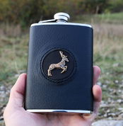 HIP FLASK, CELTIC DEER - BOTTLES, HIP FLASKS